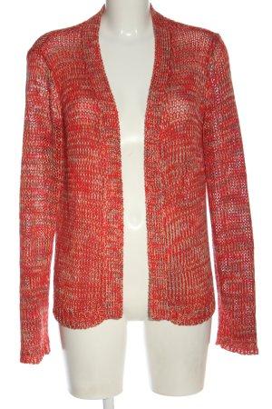 Vero Moda Cardigan in maglia rosso-crema puntinato stile casual