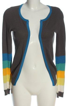 Vero Moda Strick Cardigan hellgrau-blau Streifenmuster Casual-Look