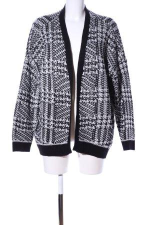 Vero Moda Strick Cardigan schwarz-weiß Allover-Druck Casual-Look