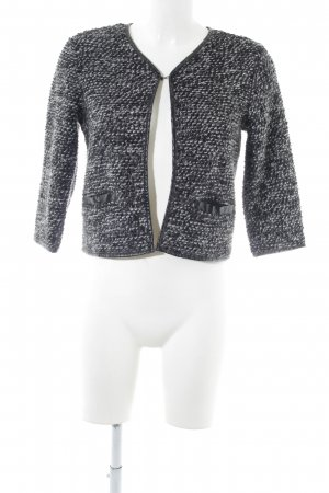 Vero Moda Strickblazer schwarz-hellgrau Business-Look