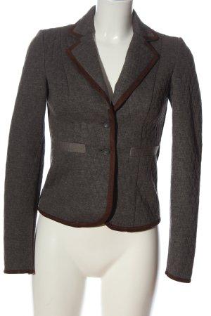 Vero Moda Blazer in maglia grigio chiaro-marrone puntinato stile professionale