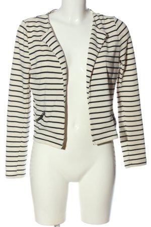 Vero Moda Strickblazer weiß-schwarz Streifenmuster Casual-Look