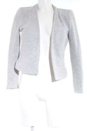 Vero Moda Blazer tejido gris claro-blanco moteado look casual