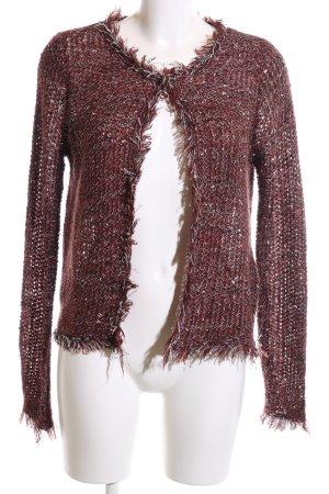Vero Moda Strickjacke rot-silberfarben Casual-Look