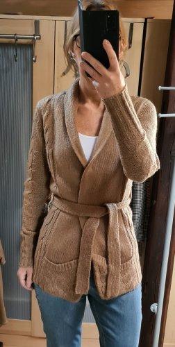 Vero Moda Veste tricotée en grosses mailles chameau