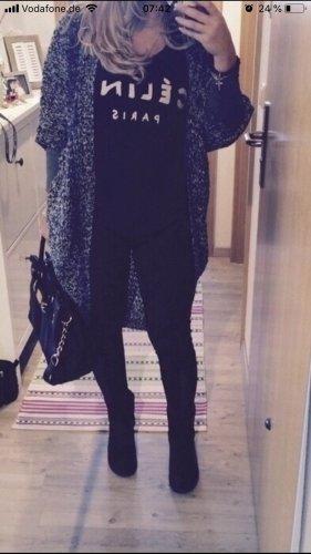 Vero Moda Strickjacke cardigan neu meliert schwarz grau one size