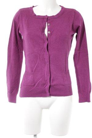 Vero Moda Strickjacke violett Romantik-Look