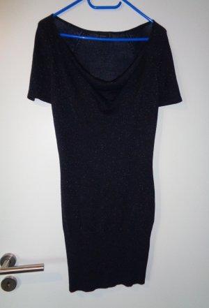 Vero Moda Strickkleid blau nachtblau mit Glitzer Gr. S neu