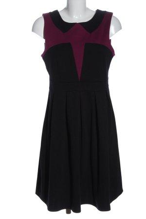 Vero Moda Strickkleid schwarz-rot Elegant