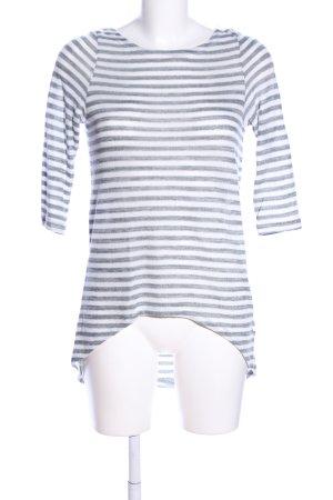 Vero Moda Strickpullover hellgrau-weiß Streifenmuster Casual-Look