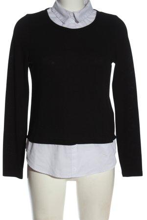 Vero Moda Strickpullover schwarz-weiß Business-Look