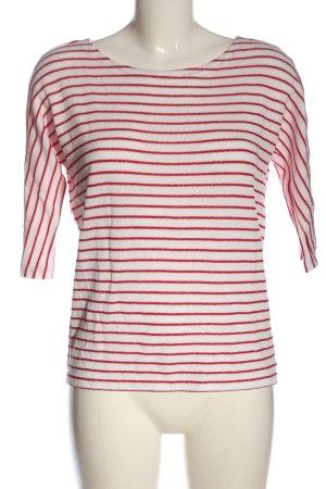 Vero Moda Strickpullover weiß-rot Streifenmuster Casual-Look