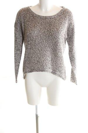 Vero Moda Strickpullover bronzefarben-weiß meliert Casual-Look