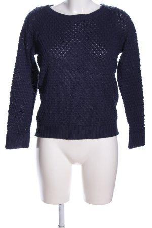 Vero Moda Strickpullover blau Zopfmuster Casual-Look
