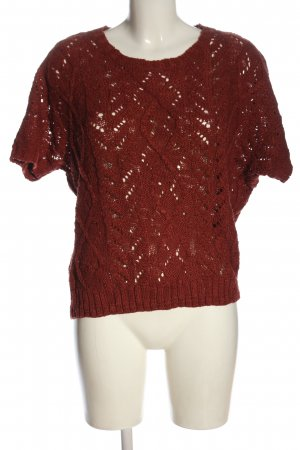 Vero Moda Strickpullover rot Casual-Look