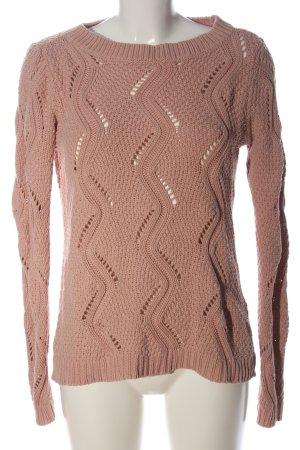 Vero Moda Strickpullover nude Casual-Look