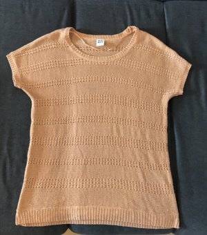 Vero Moda Top en maille crochet abricot-orange clair