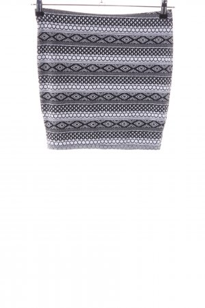 Vero Moda Knitted Skirt light grey allover print casual look