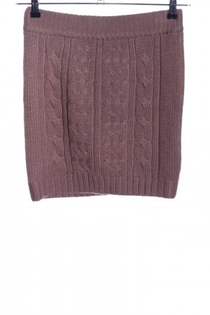 Vero Moda Knitted Skirt brown cable stitch casual look