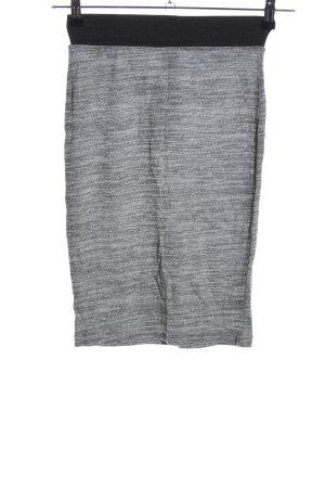 Vero Moda Spódnica z dzianiny jasnoszary-czarny Melanżowy W stylu casual