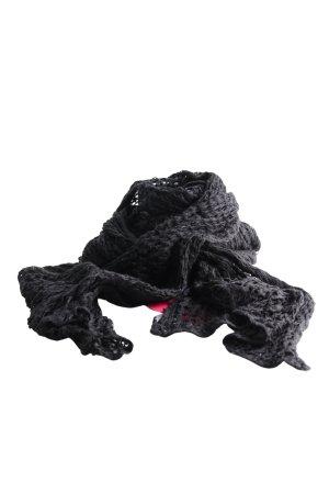Vero Moda Bufanda de punto negro punto trenzado look casual