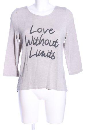 Vero Moda Camicia maglia grigio chiaro caratteri stampati stile casual