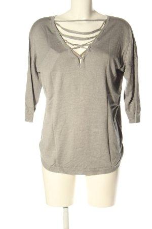 Vero Moda Camisa tejida gris claro look casual