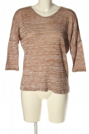 Vero Moda Strickshirt braun Allover-Druck Casual-Look