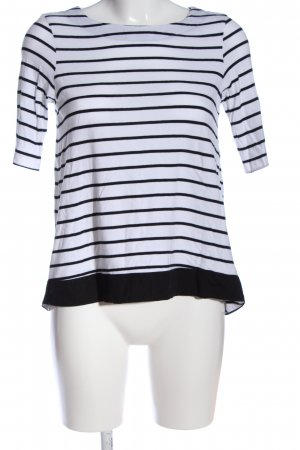 Vero Moda Gebreid shirt wit-zwart gestreept patroon casual uitstraling