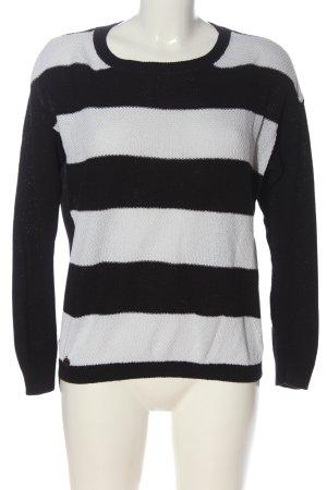 Vero Moda Strickpullover schwarz-weiß Streifenmuster Casual-Look