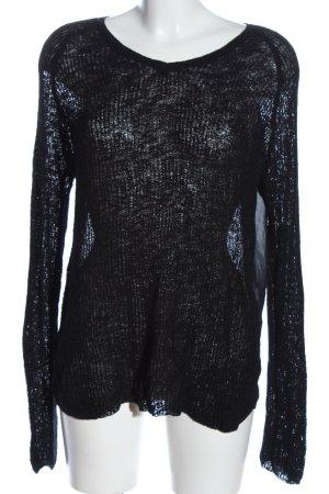 Vero Moda Strickshirt schwarz Casual-Look