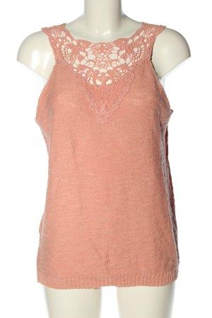 Vero Moda Top lavorato a maglia rosa stile casual