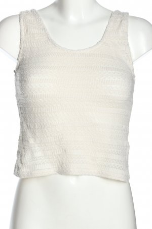 Vero Moda Top de punto blanco puro look casual