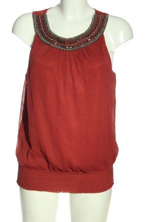 Vero Moda Gebreide top rood casual uitstraling
