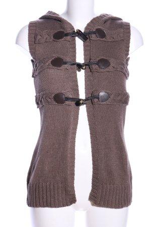 Vero Moda Strickweste braun Casual-Look