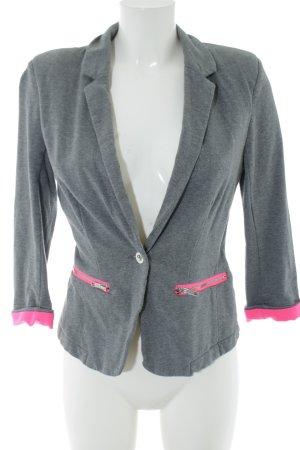 Vero Moda Sweatblazer hellgrau-pink Casual-Look