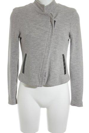 Vero Moda Sweatblazer grau-schwarz meliert Casual-Look