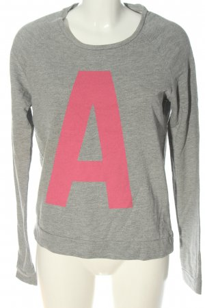 Vero Moda Sweatshirt hellgrau-pink Motivdruck Casual-Look