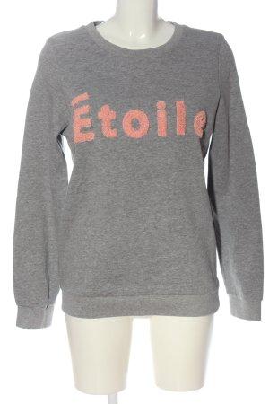 Vero Moda Sweatshirt hellgrau-nude Schriftzug gedruckt Casual-Look