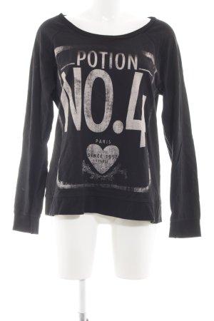 Vero Moda Sweatshirt schwarz-wollweiß Motivdruck Casual-Look