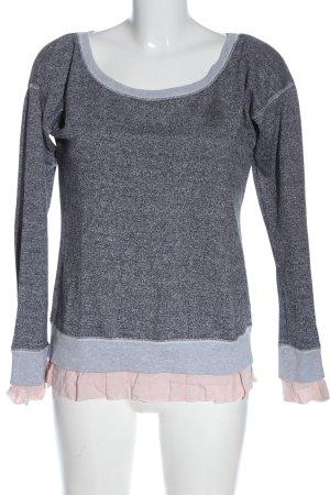 Vero Moda Sweatshirt hellgrau-pink meliert Casual-Look