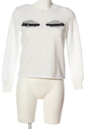 Vero Moda Sweatshirt weiß-schwarz Motivdruck Casual-Look