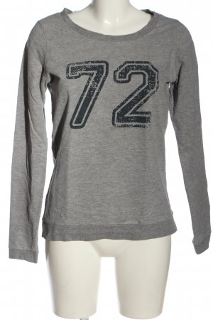 Vero Moda Sweatshirt hellgrau-schwarz meliert Casual-Look