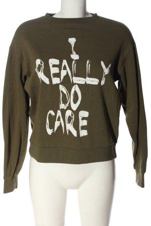 Vero Moda Sweatshirt khaki-weiß meliert Casual-Look
