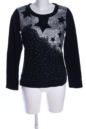 Vero Moda Sweatshirt noir imprimé avec thème style d'affaires
