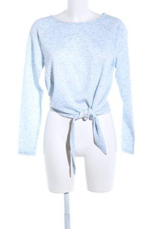 Vero Moda Sweatshirt blau-hellgrau meliert Casual-Look