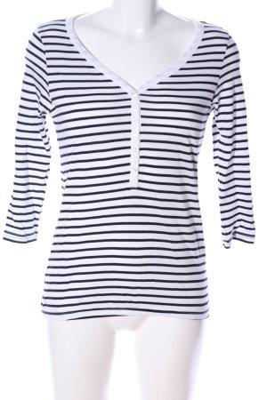Vero Moda Sweatshirt weiß-schwarz Streifenmuster Casual-Look