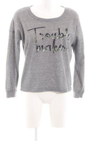 Vero Moda Sweatshirt hellgrau meliert Casual-Look