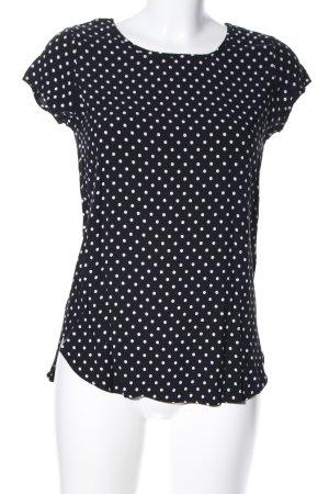 Vero Moda T-Shirt schwarz-weiß Punktemuster Casual-Look