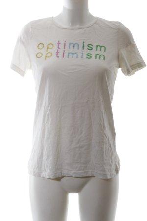 Vero Moda T-Shirt weiß-grün Schriftzug gedruckt Casual-Look